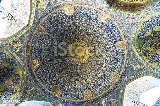 View on dome of Jameh Mosque in Isfahan - Iran