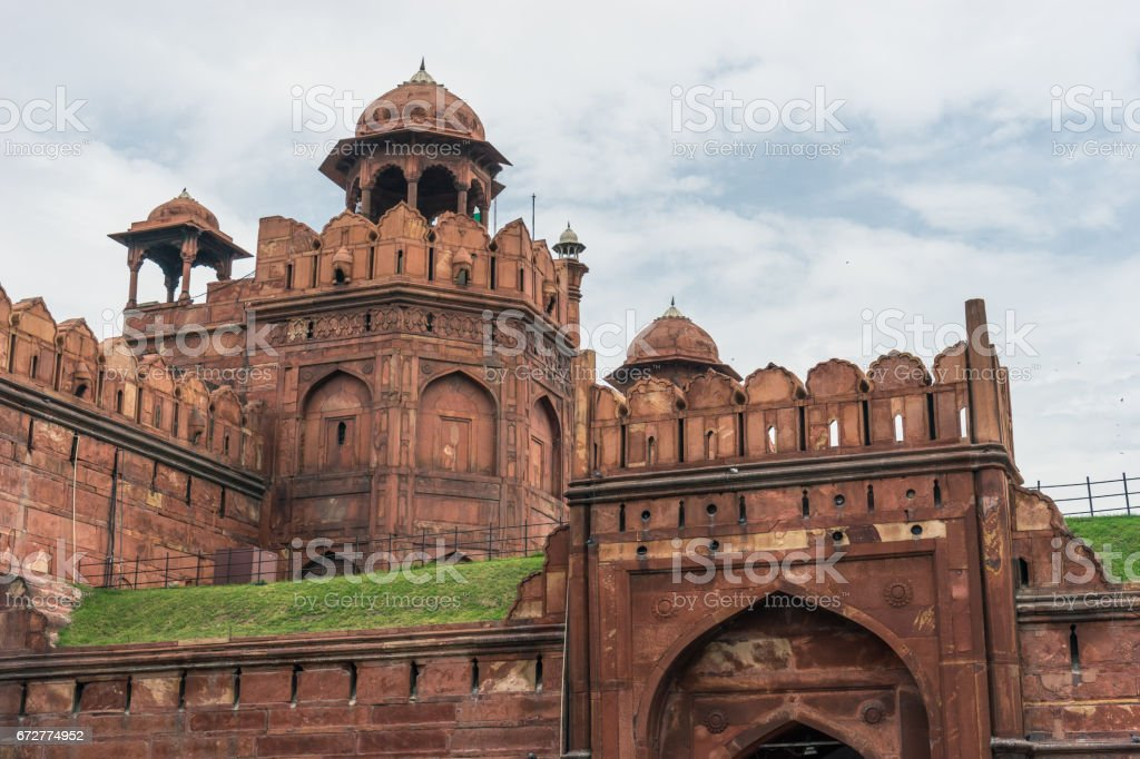 Dome of Red fort, landmark of New Delhi city, India stock photo