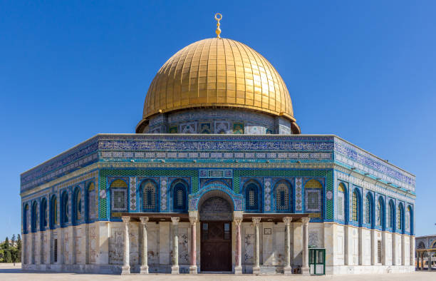 Dome of Rock The Dome of Rock on the Tmple Mount in Jerusalem, Israel dome of the rock stock pictures, royalty-free photos & images