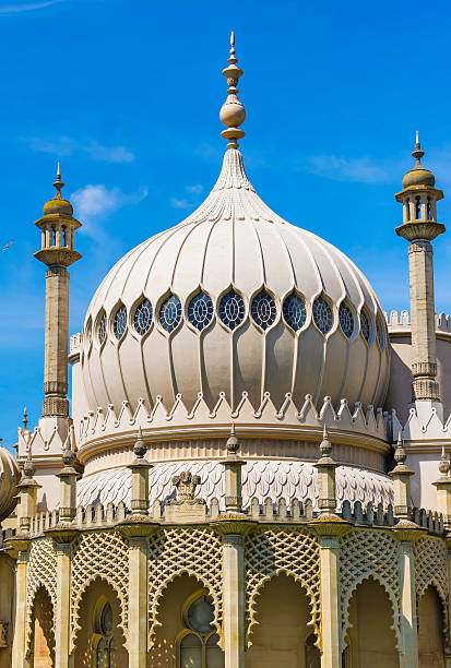 Dome of Royal Pavilion in Brighton in East Sussex, England stock photo