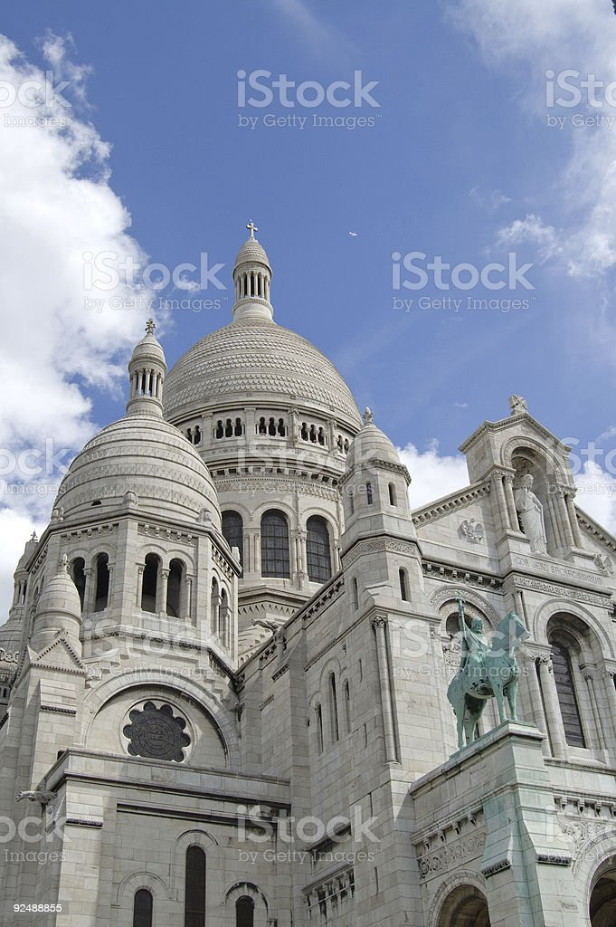 Dome of Sacre Couer Basilica; Paris, France royalty-free stock photo
