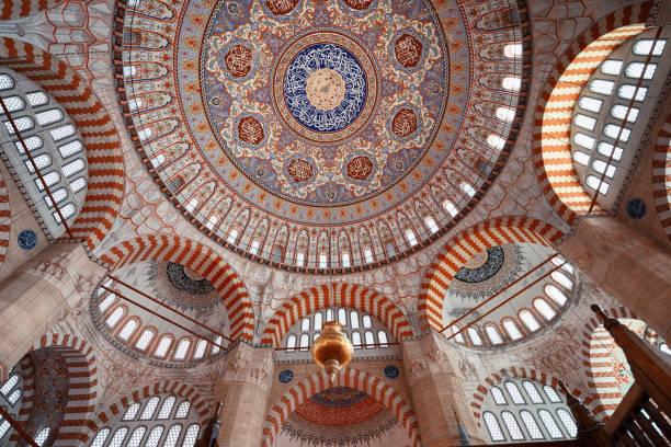 kuppel der selimiye moschee, edirne, türkei - selimiye moschee stock-fotos und bilder