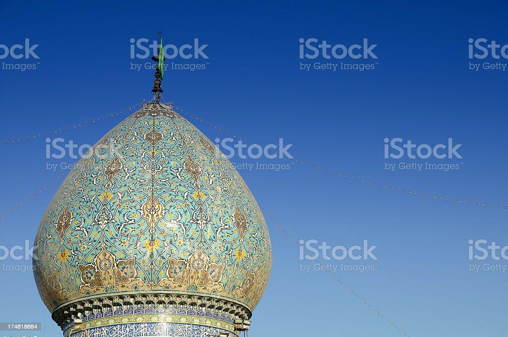 Dome of Shah Cheragh, Shiraz, Iran stock photo