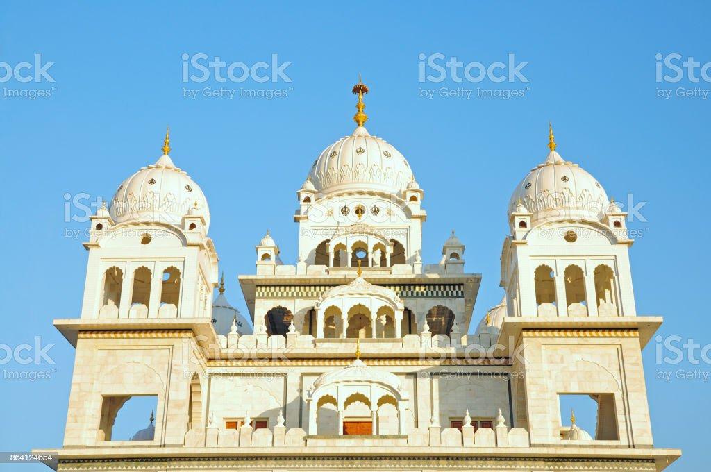 Dome of Sikh Temple, Gurudwara Singh Sabha, Pushkar, Rajasthan, India royalty-free stock photo