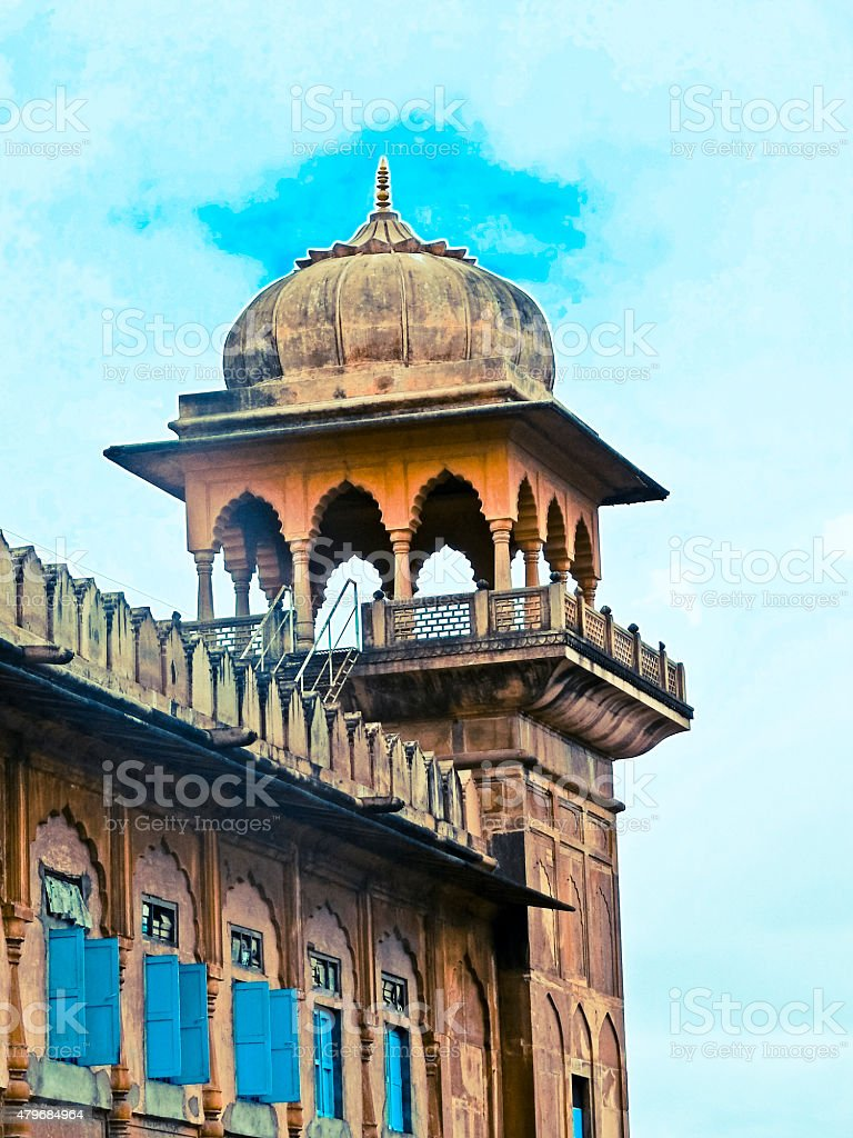 Dome of Taj-ul Masjid stock photo