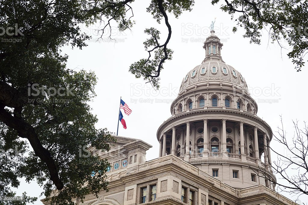 Dome of Texas State Capitol in Austin royalty-free stock photo