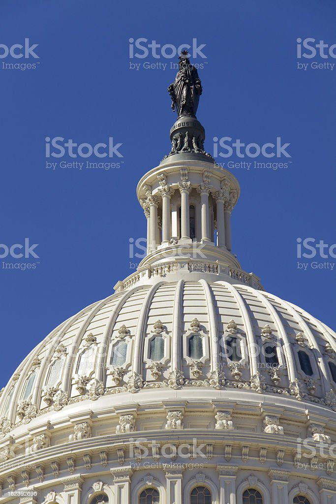 Dome of the Capitol royalty-free stock photo