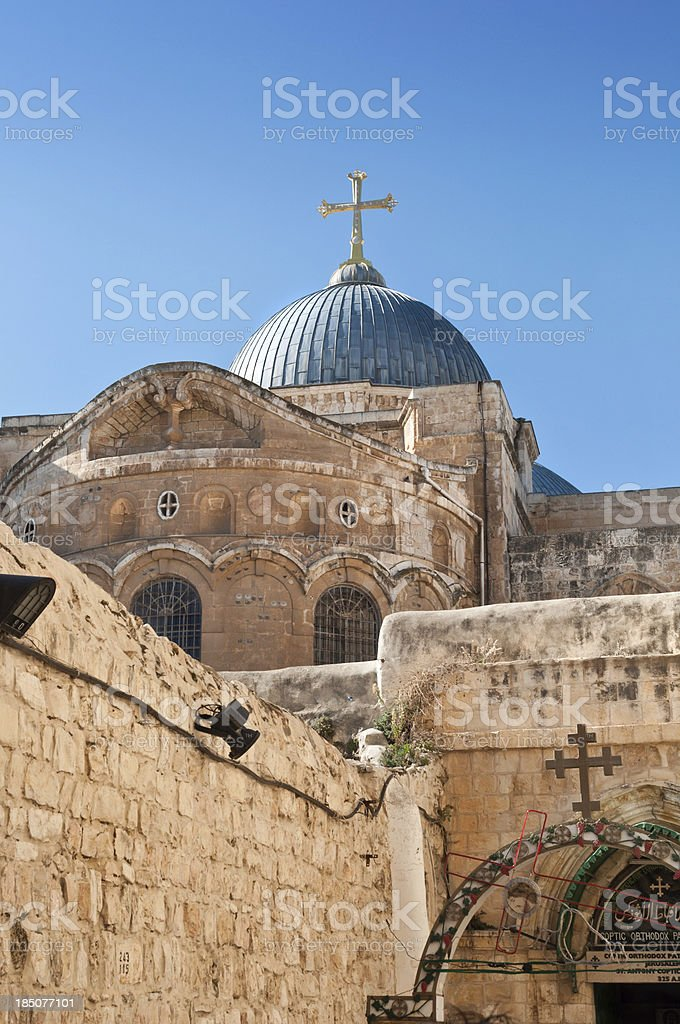 Dome of the  Church  Holy Sepulchre stock photo