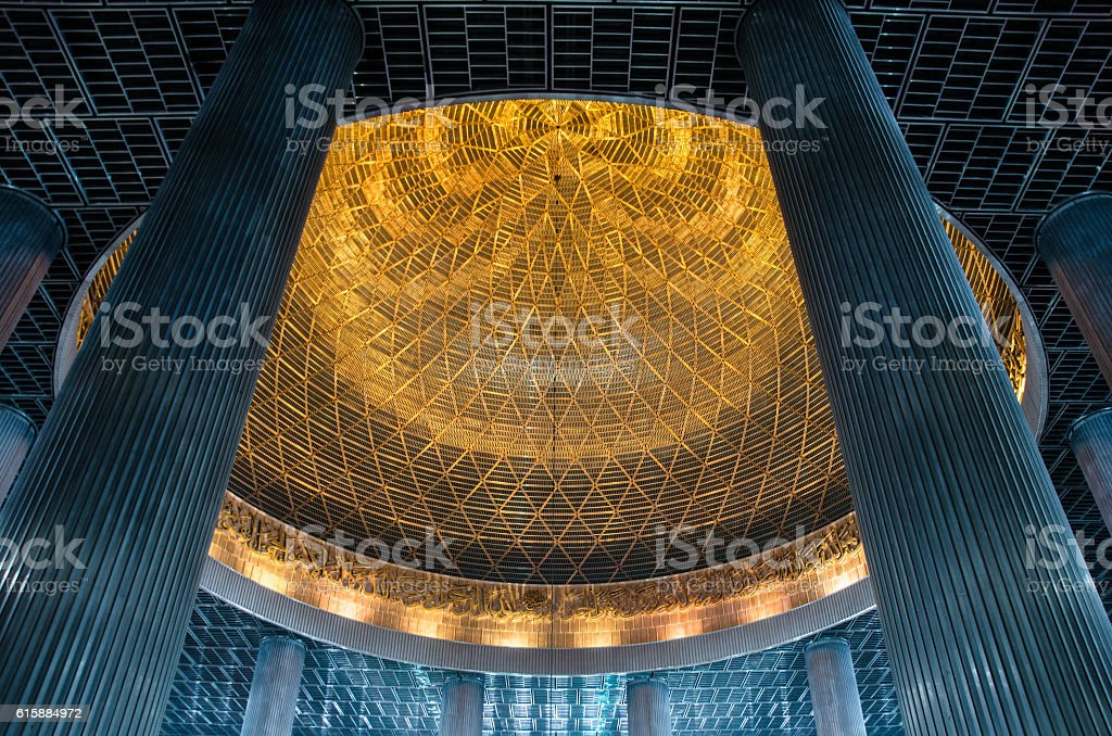 Dome of the Istiqlal Mosque stock photo