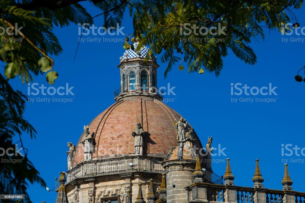 Dome of the Jerez de la Frontera Cathedral stock photo