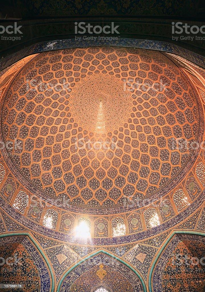 Dome of the Masjid-I Sheikh Lotfallah (Mosque), Iran stock photo