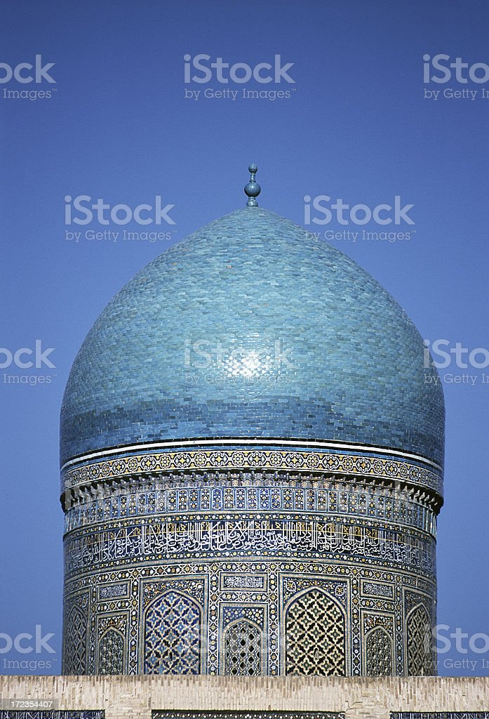Dome of the Mir-i-Arab medressa royalty-free stock photo