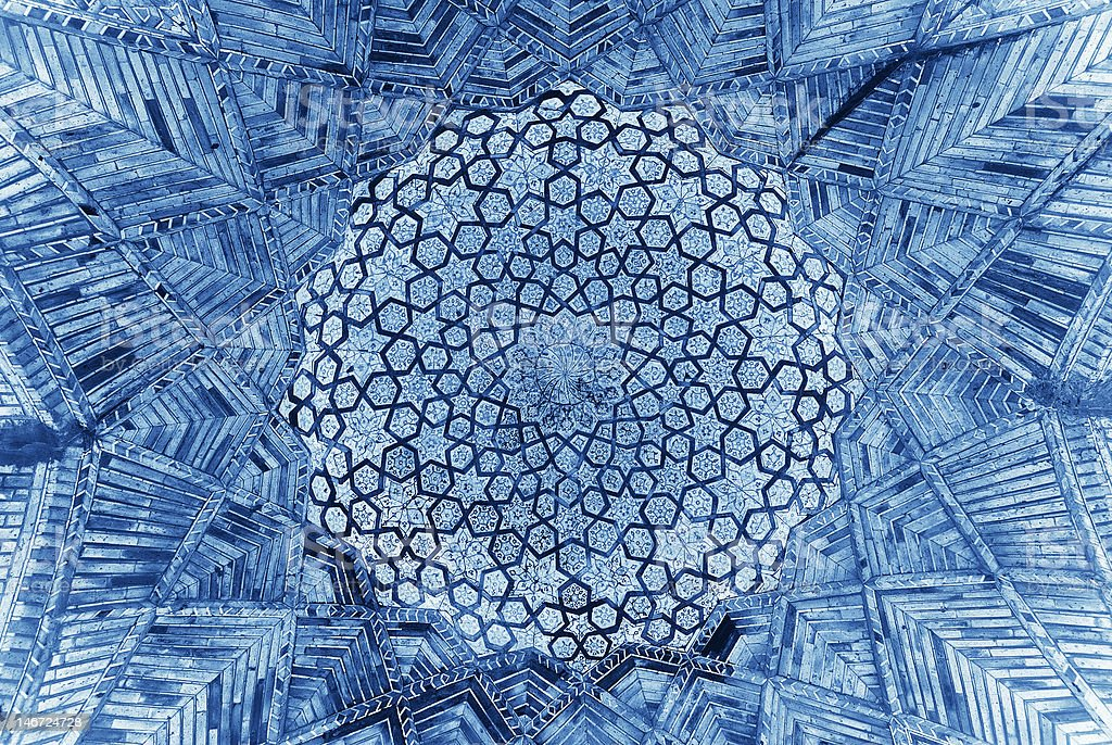 Dome of the mosque, oriental ornaments from Bukhara, Uzbekistan royalty-free stock photo