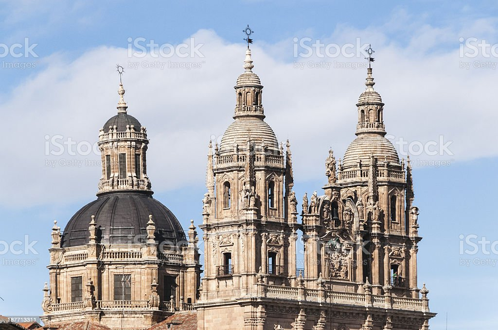 Dome of  the New Salamanca Cathedral, Spain royalty-free stock photo