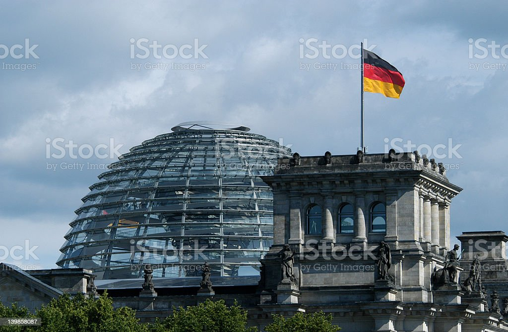 Dome of the Reichstag stock photo
