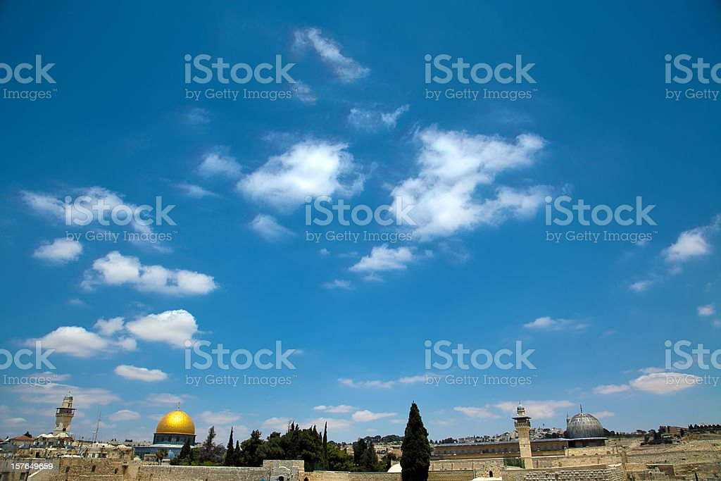 Dome of the Rock and Al-Aqsa royalty-free stock photo