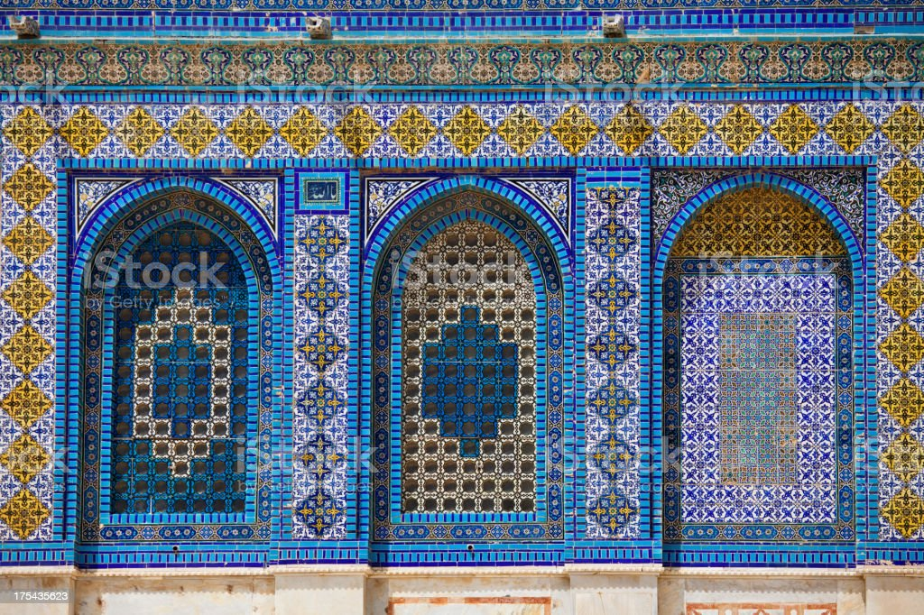 Dome of the rock facade detail stock photo