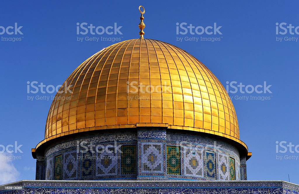 Dome of the Rock in Jerusalem - detail royalty-free stock photo