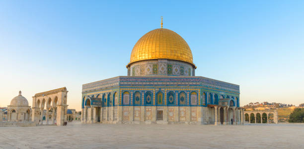 Dome of the Rock in Jerusalem The Dome of the Rock (Qubbet el-Sakhra) is one of the greatest of Islamic monuments, it was built by Abd el-Malik, Jerusalem, Israel dome of the rock stock pictures, royalty-free photos & images