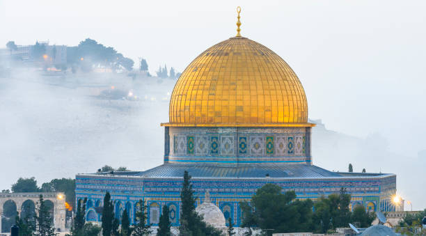 Dome of the Rock in the Old City of Jerusalem Dome of the Rock on on the Temple Mount in Jerusalem dome of the rock stock pictures, royalty-free photos & images