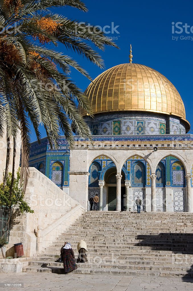 Dome of the Rock, Islamic Shrine in Jerusalem royalty-free stock photo