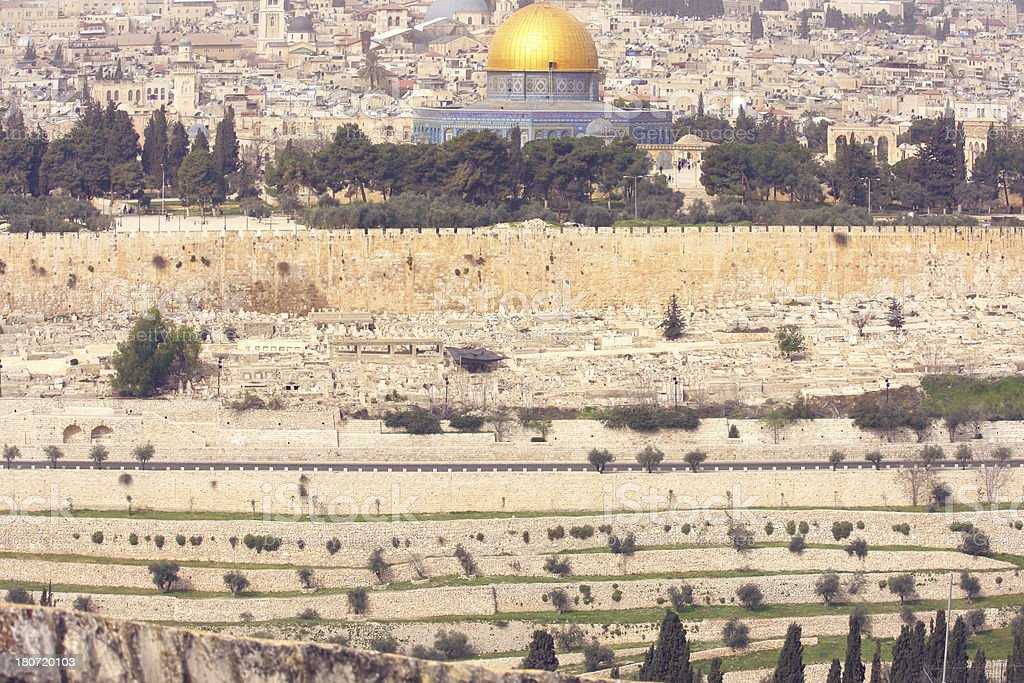 Dome of the Rock - Jerusalem old city royalty-free stock photo