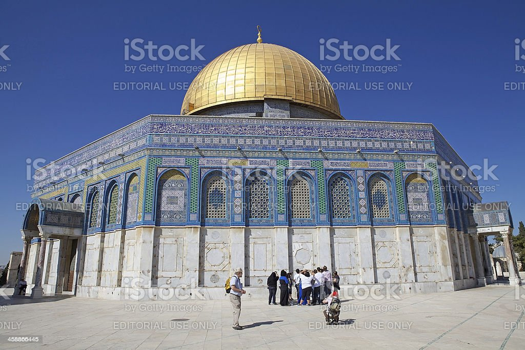 Dome of the Rock Mosque royalty-free stock photo
