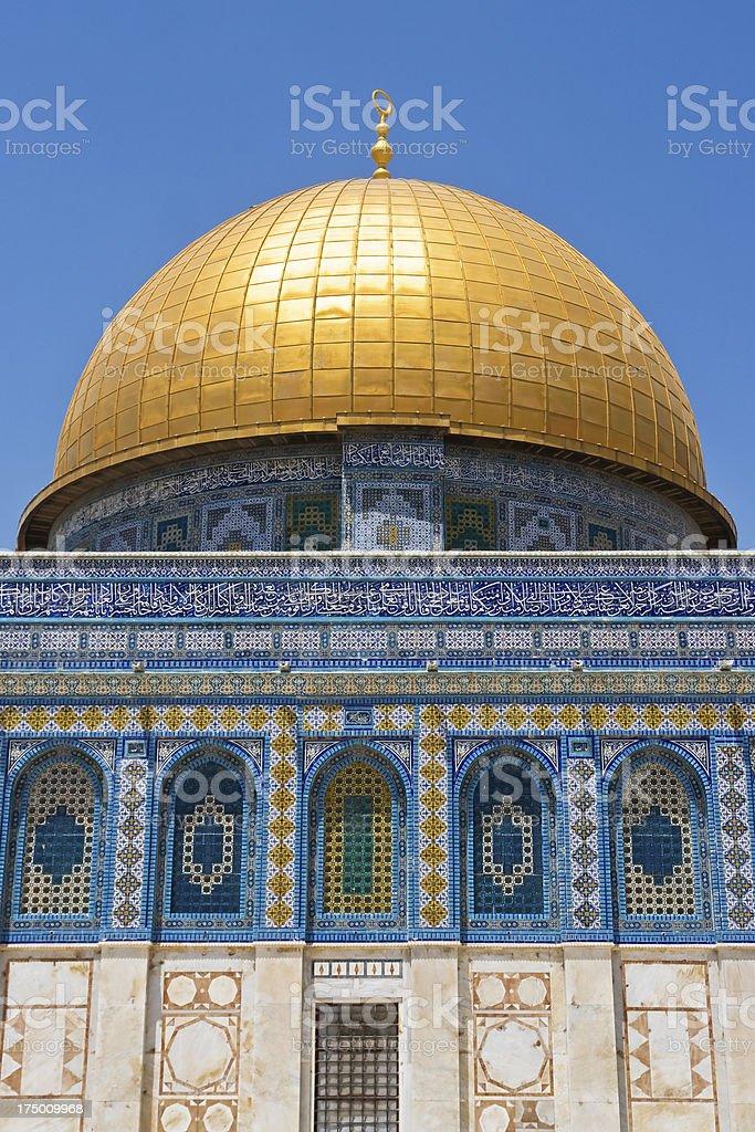 Dome of the Rock, Old City Jerusalem. royalty-free stock photo