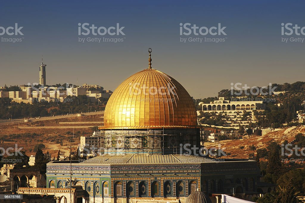 Dome of the Rock on Temple mount ,Jerusalem royalty-free stock photo
