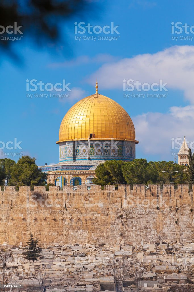Dome of the Rock on Temple Mount of Old City, Jerusalem stock photo