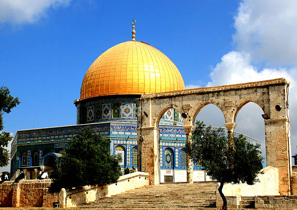 Dome of the Rock, Temple Mount, Jerusalem More Mosques: dome of the rock stock pictures, royalty-free photos & images