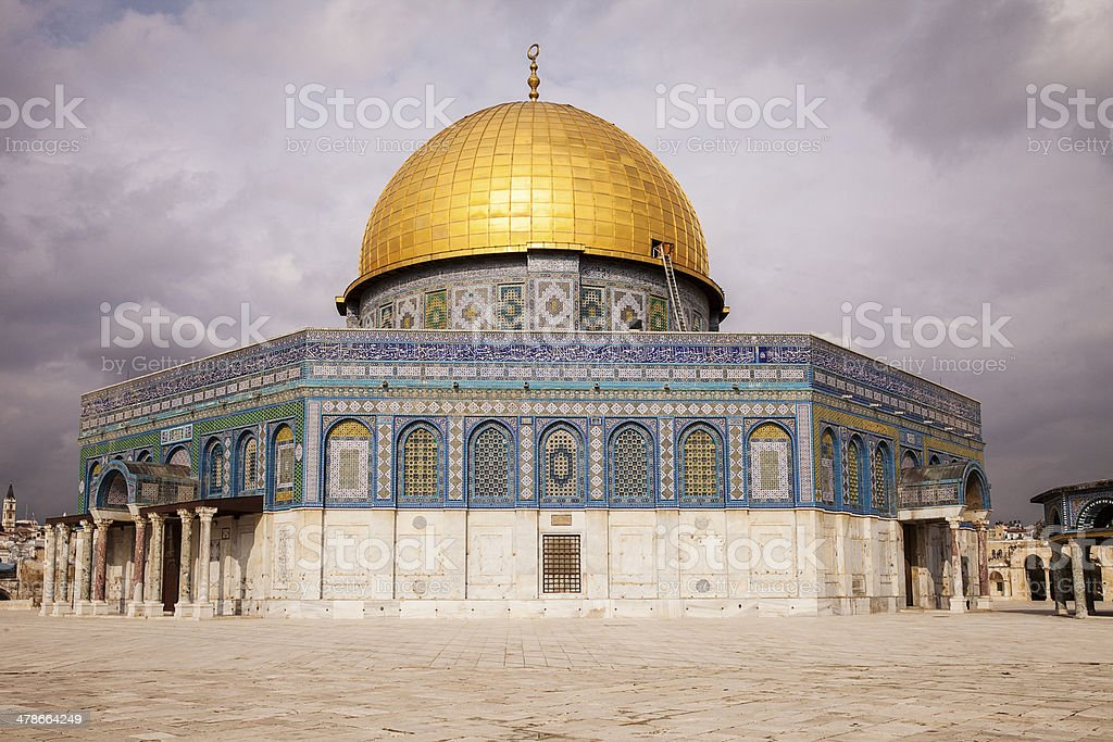 Dome Of The Rock With Clouds royalty-free stock photo