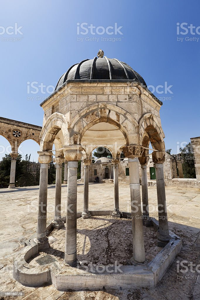 Dome of the Rock Yard Structure royalty-free stock photo