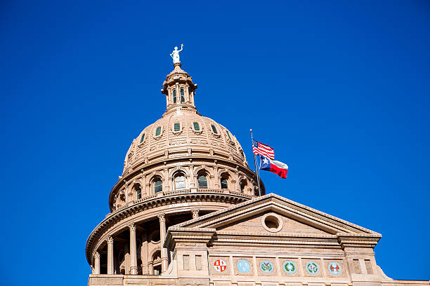 Dome of the Texas Capital building in Austin stock photo