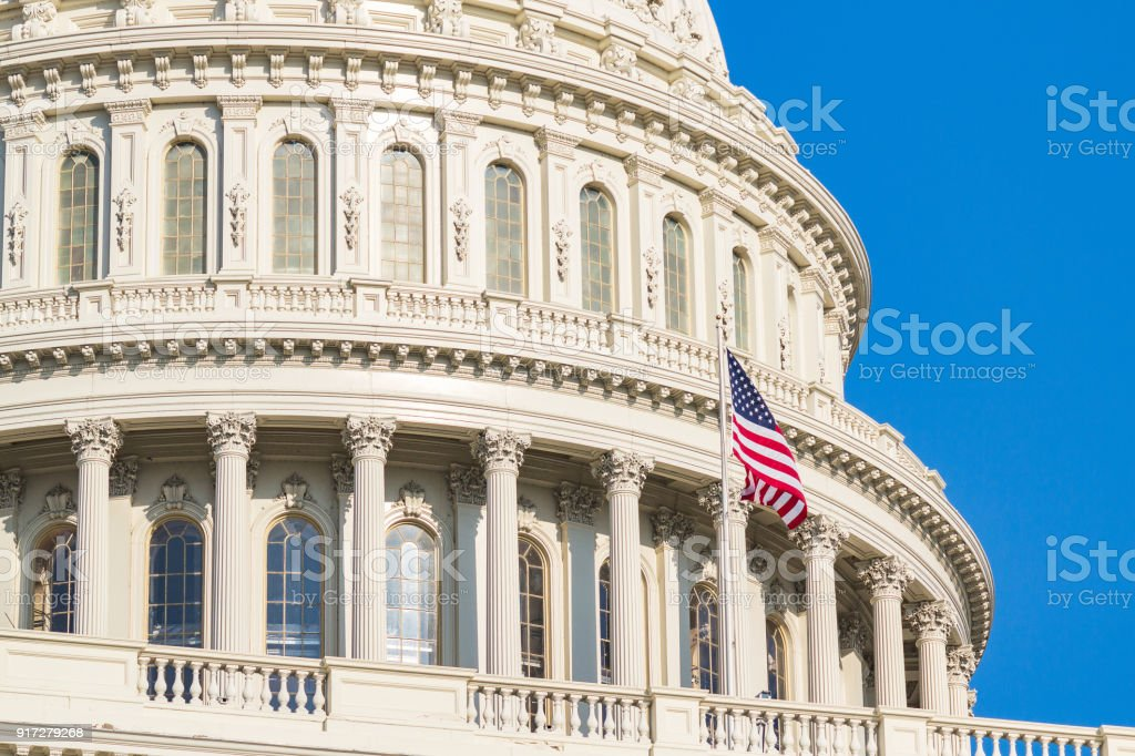 Dome of The United States Capitol Building. stock photo