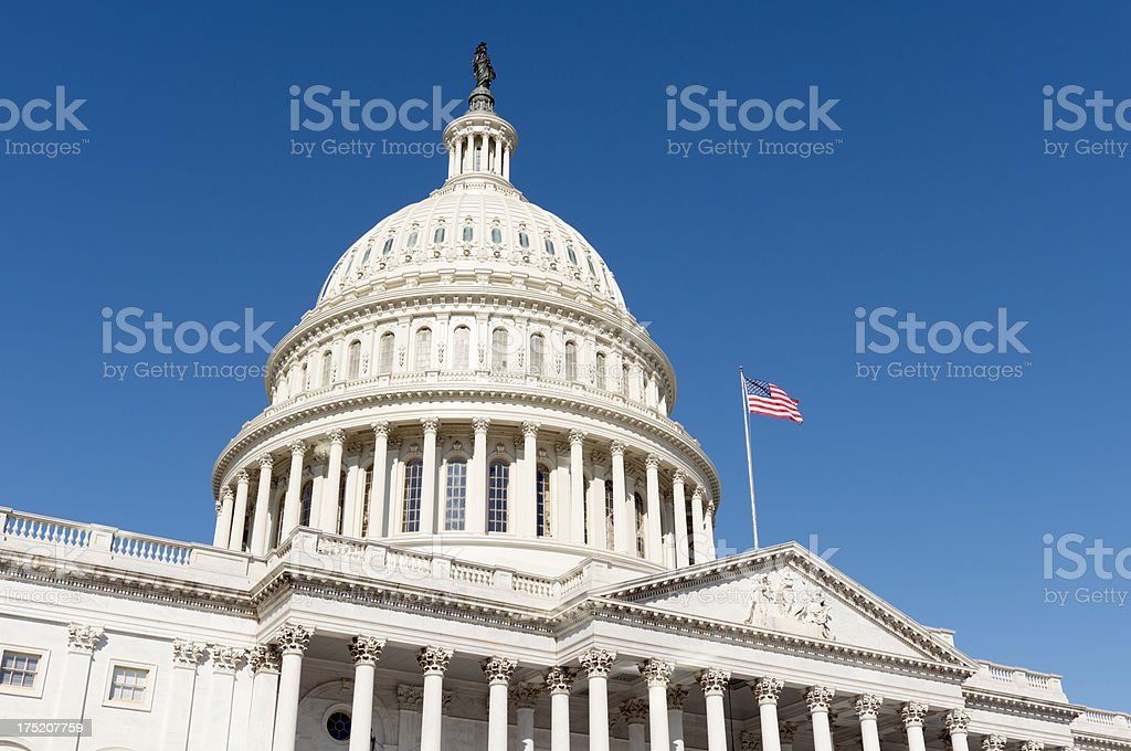 Dome of the US Capitol Building Washington DC stock photo