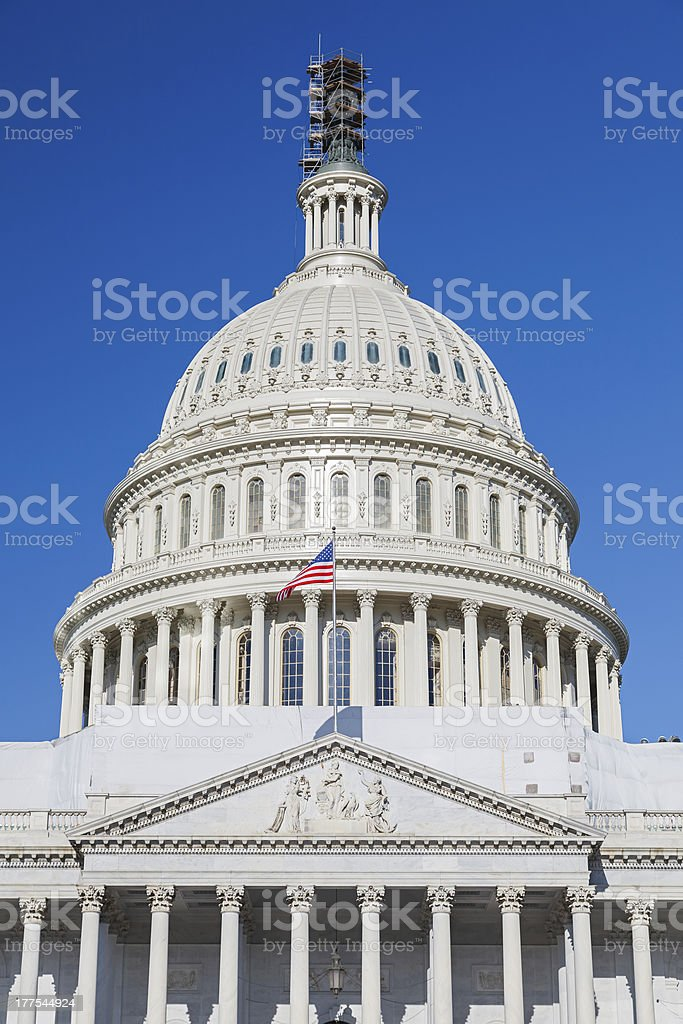 Dome of the US Capitol royalty-free stock photo
