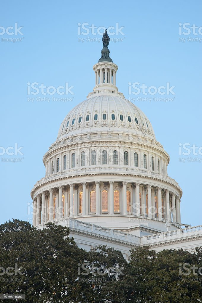 Dome of United States Capitol Building stock photo