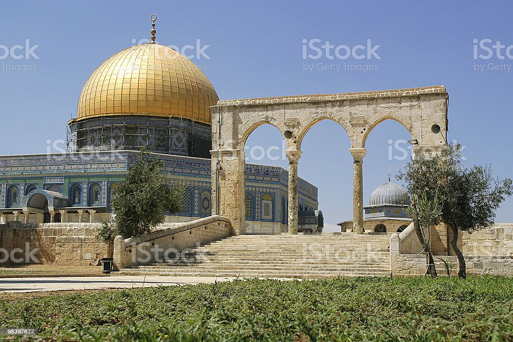 Dome on the Rock mosque. royalty-free stock photo