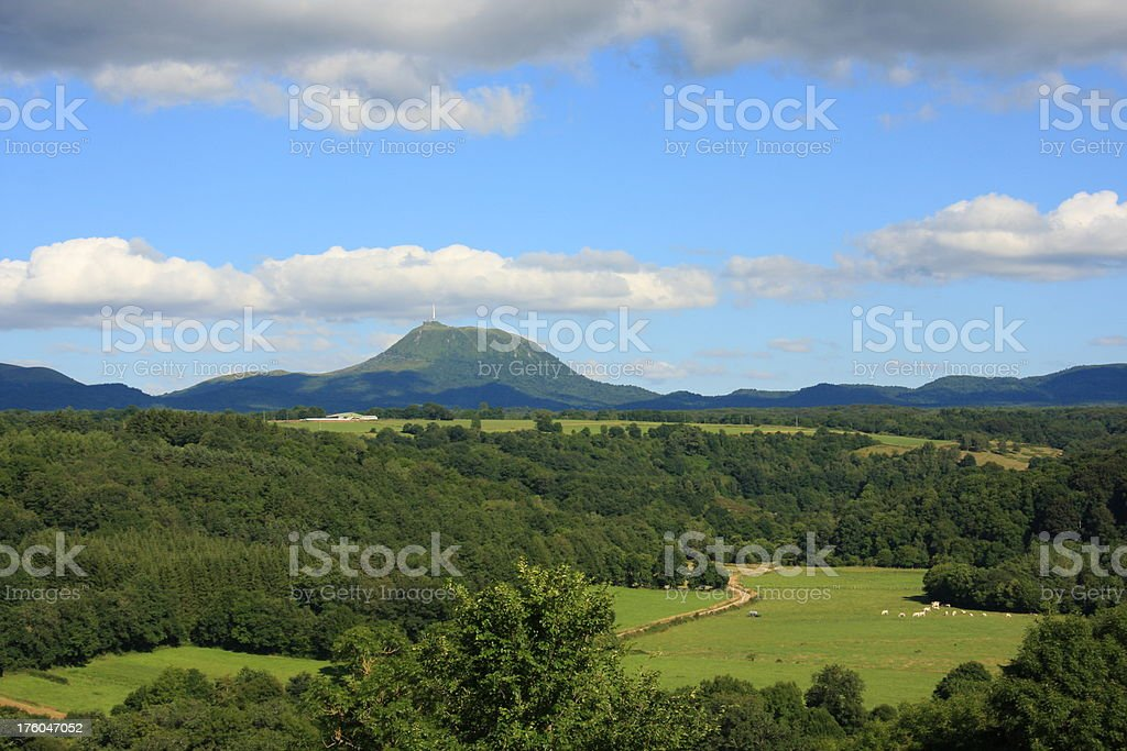 puy de dome stock photo