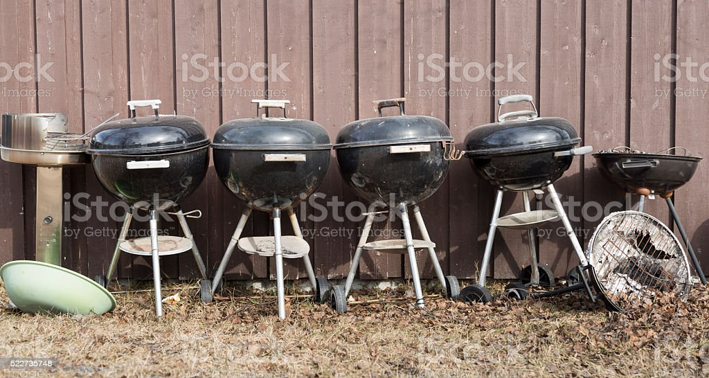 Dome Shaped Barbecue Grills stock photo