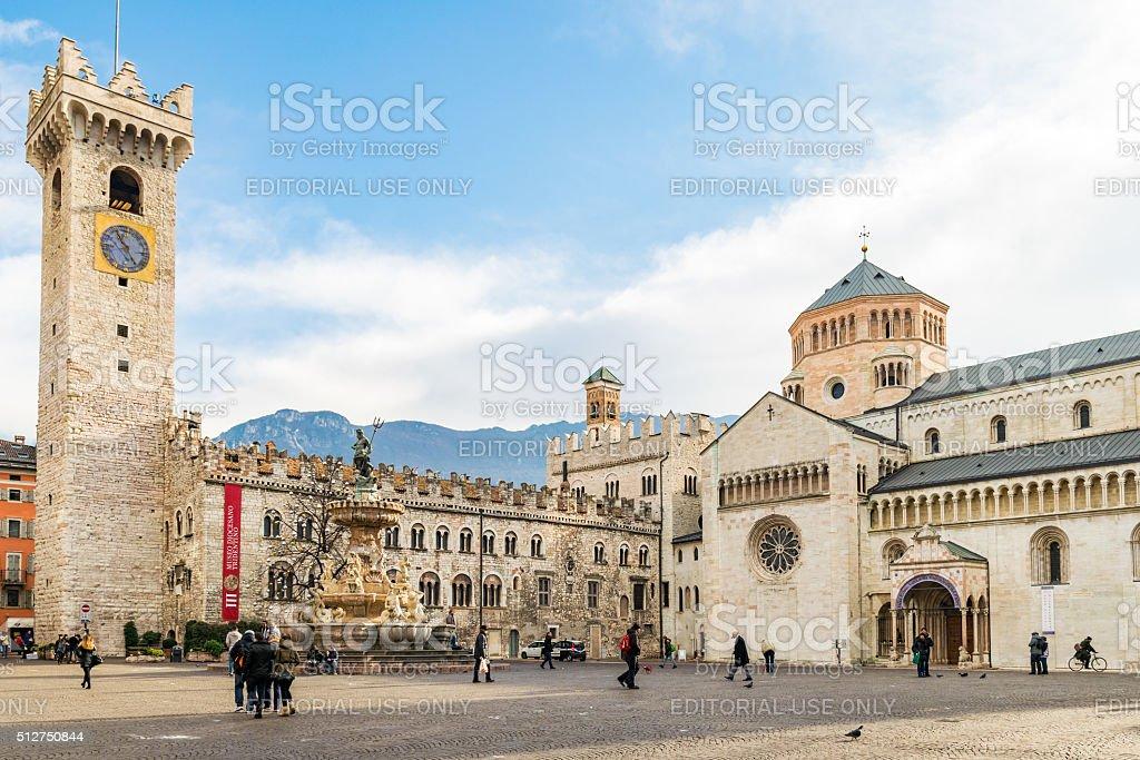 Dome square in Trento. stock photo