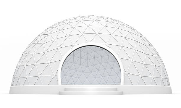 Dome tent stock photo