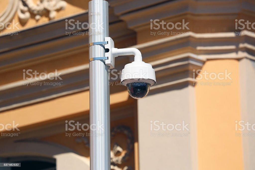 Dome Type Camera in Nice, France stock photo