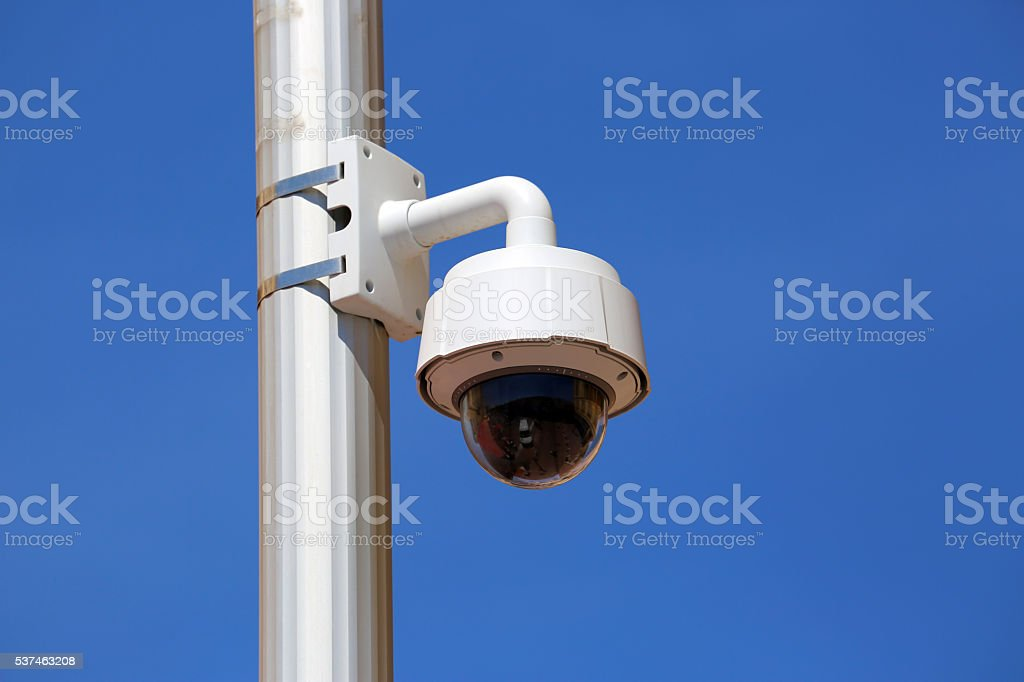 Dome Type Camera in Nice stock photo