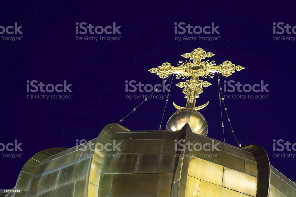 Dome with cross royalty-free stock photo