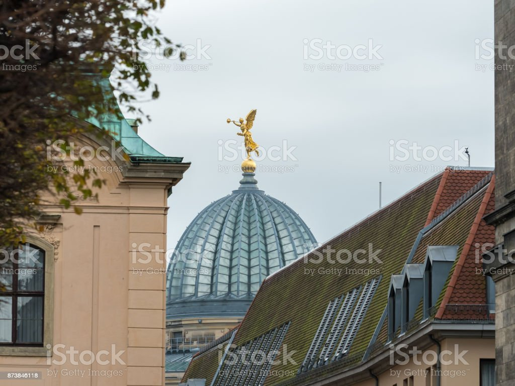 Dome with golden figure stock photo