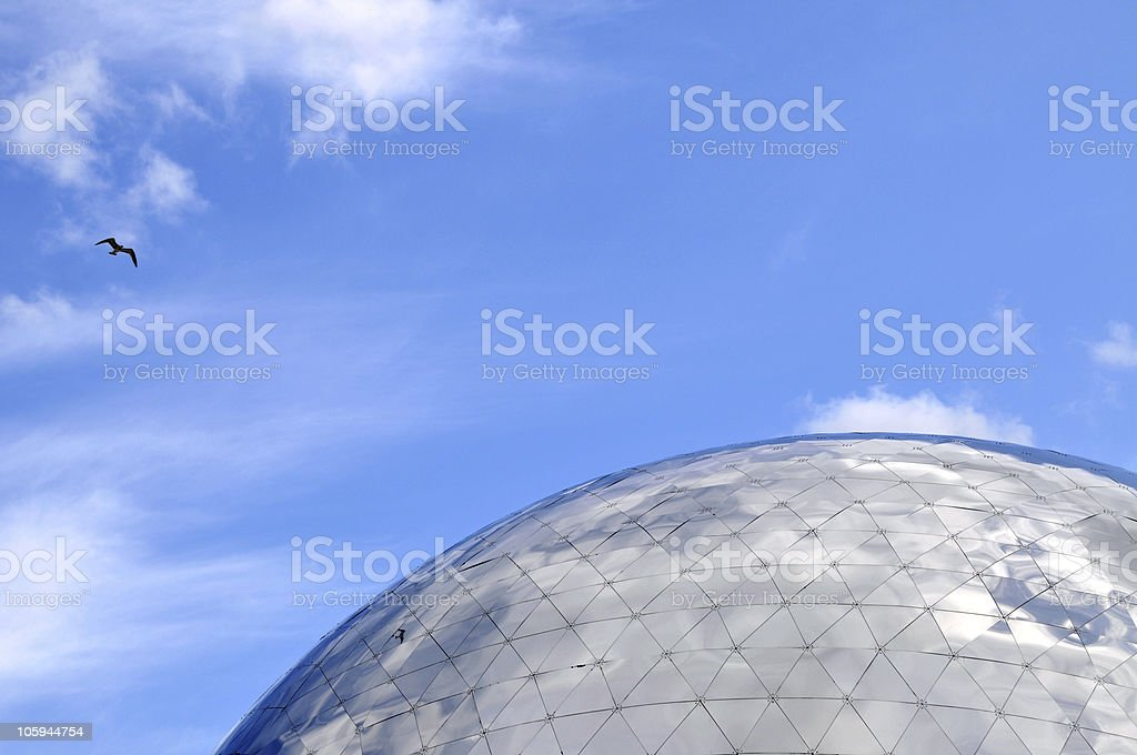 Dome with seagull stock photo