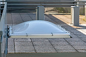 Acrylic Dome Skylight Window at Flat Roof