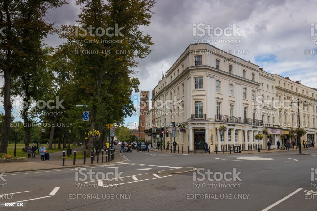 Domer Place and The Parade Royal Leamington Spa stock photo
